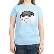 Nine-Banded Armadillo (Front) Women's Pink T-Shirt