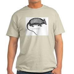Nine-Banded Armadillo (Front) Ash Grey T-Shirt