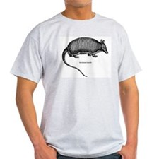 Nine-Banded Armadillo (Front) Ash Grey T-Shirt