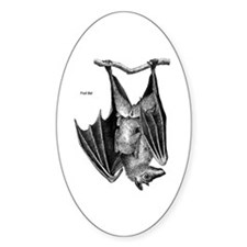 Fruit Bat Oval Decal