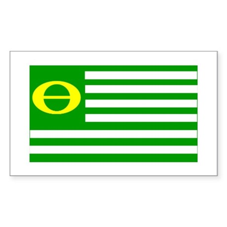 Green! Rectangle Sticker