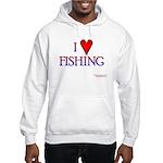 I Love Fishing (hook heart) Hooded Sweatshirt