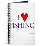 I Love Fishing (hook heart) Journal