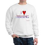 I Love Fishing (hook heart) Sweatshirt