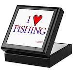 I Love Fishing (hook heart) Keepsake Box