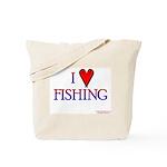 I Love Fishing (hook heart) Tote Bag