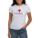 I Love Fishing (hook heart) Women's T-Shirt