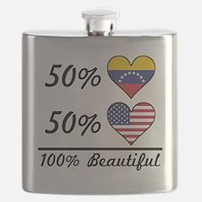 50% Venezuelan 50% American 100% Beautiful Flask