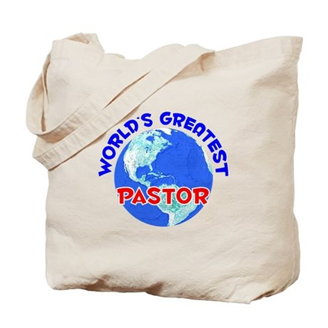 World's Greatest Pastor (E) Tote Bag