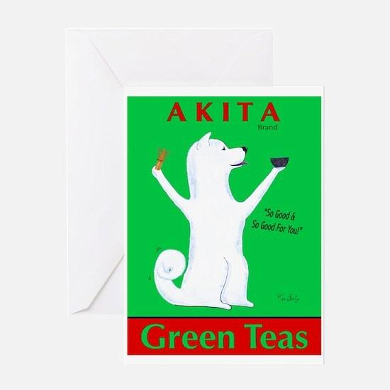 Akita Green Teas Greeting Card