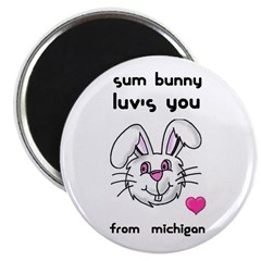 sum bunny luv's you Magnet