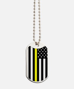 U.S. Flag: Thin Yellow Line Dog Tags
