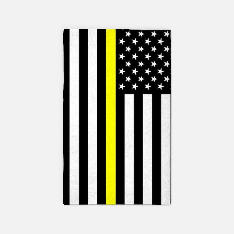 U.S. Flag: Thin Yellow Line Area Rug