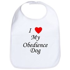 I Love My Obedience Dog Bib