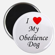 I Love My Obedience Dog Magnet