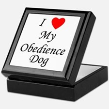 I Love My Obedience Dog Keepsake Box