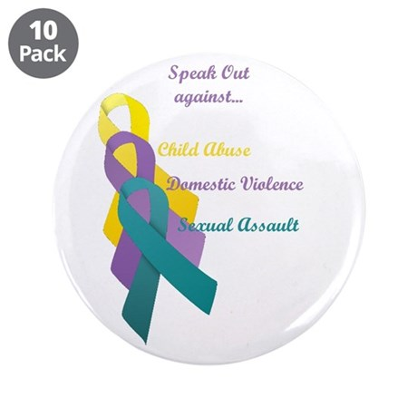"Speak Out 3.5"" Button (10 pack)"