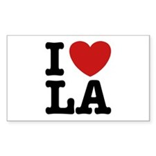 I Love LA Rectangle Decal