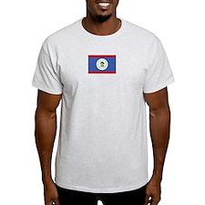 Belize Flag Ash Grey T-Shirt