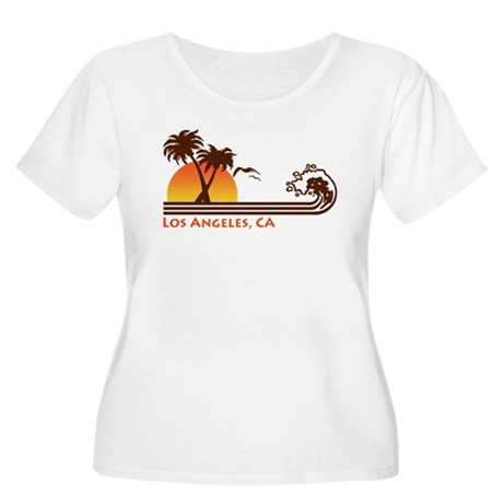 Los Angeles, CA Women's Plus Size Scoop Neck T-Shi
