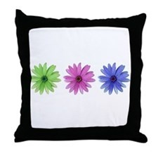 3 color daisies Throw Pillow