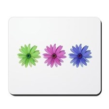 3 color daisies Mousepad