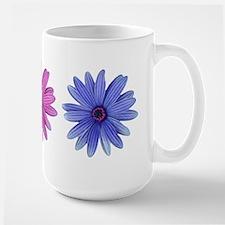 3 color daisies Mug