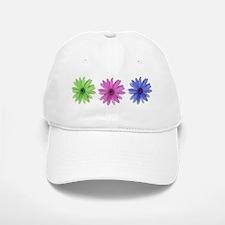3 color daisies Baseball Baseball Cap