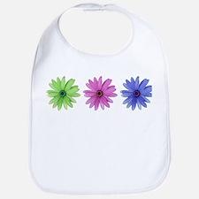 3 color daisies Bib