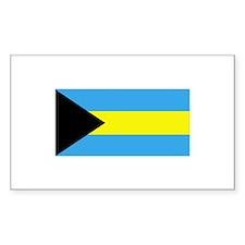 Bahamas Flag Rectangle Bumper Stickers