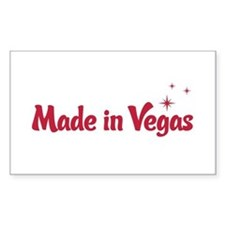 Made in Vegas Rectangle Decal
