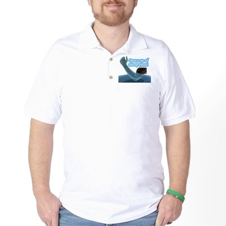 Open a can of whoop elbow! Golf Shirt