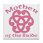 Celtic Knot Bride's Mother Tile Coaster