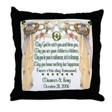 Wedding Sample One (Blessing) Throw Pillow