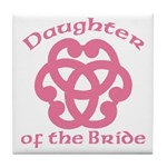 Celtic Knot Bride's Daughter Tile Coaster