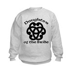Celtic Knot Bride's Daughter Kids Sweatshirt