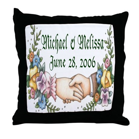 Wedding Sample 3 Throw Pillow