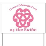 Celtic Knot Bride's Granddaughter Yard Sign