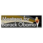 Montana for Barack Obama bumper sticker