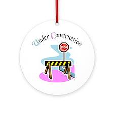 Baby under construction Keepsake (Round)