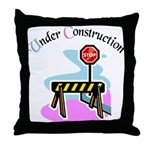 Baby under construction Throw Pillow