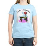 Baby under construction Women's Pink T-Shirt