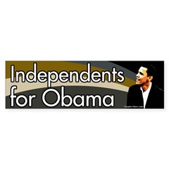 Independents for Obama Bumper Bumper Sticker