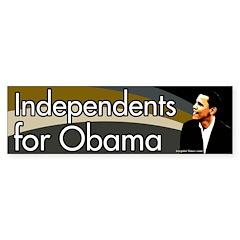Independents for Obama Bumper Bumper Sticker