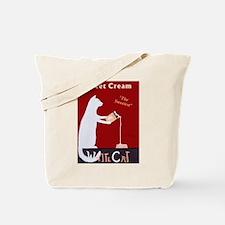 White Cat Sweet Cream Tote Bag