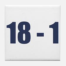 NY Giants Super Bowl Champs (18-1) Tile Coaster