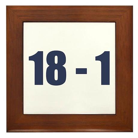 NY Giants Super Bowl Champs (18-1) Framed Tile