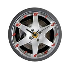Elise/Exige Silver Wheel Wall Clock
