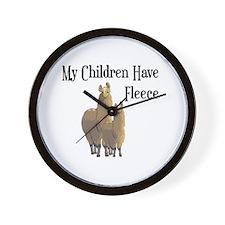 My Children Are Alpacas Wall Clock