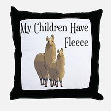 My Children Are Alpacas Throw Pillow
